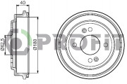 Тормозной барабан PROFIT 5020-0042