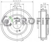 Тормозной барабан PROFIT 5020-0043