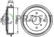 Тормозной барабан PROFIT 5020-0059