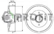 Тормозной барабан PROFIT 5020-0072