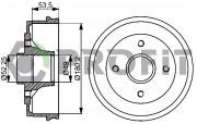 Тормозной барабан PROFIT 5020-0075