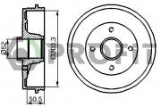 Тормозной барабан PROFIT 5020-0076
