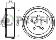 Тормозной барабан PROFIT 5020-0085