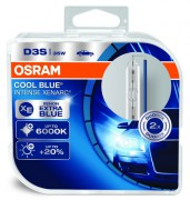 Комплект ксеноновых ламп Osram D3S Xenarc Cool Blue Intense 66340CBI Duobox