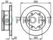 Гальмівний диск PROFIT 5010-0191