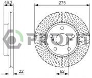 Тормозной диск PROFIT 5010-1789