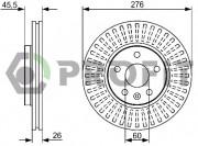Тормозной диск PROFIT 5010-1869
