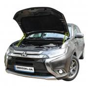 Амортизаторы капота (газовые упоры капота) Euro-Upor EU-MI-OUT-03-2 для Mitsubishi Outlander 3 (2014+) 2шт