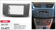 Переходная рамка Carav 11-477 для Nissan Sentra, Sylphy, Tiida, Pulsar, 2DIN