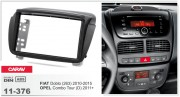Переходная рамка Carav 11-376 для Opel Combo Tour (D) 2011+ / Fiat Doblo (263) 2010-2015, 2DIN