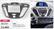 Переходная рамка Carav 11-491 для Ford Tourneo Custom / Transit Custom 2012+, 2DIN