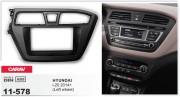 Переходная рамка Carav 11-578 для Hyundai i20 2014+, 2DIN