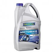 Мотоциклетное моторное масло Ravenol Motobike 4-T Ester 15W-50
