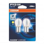 Комплект ламп накаливания Osram Diadem Chrome 7507DC-02B (PY21W / BAU15S)