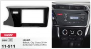 Переходная рамка Carav 11-511 для Honda City, Ballade, Grace 2014+, 2 DIN