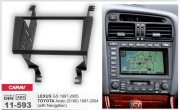 Переходная рамка Carav 11-593 для Toyota Aristo (S160) 1997-2004 / Lexus GS 1997-2005, 2 DIN