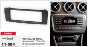 Переходная рамка Carav 11-594 для Mercedes-Benz B-класса (W246), A-класса (W176), GLA-класса (X156), 1 DIN