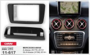 Переходная рамка Carav 11-617 для Mercedes-Benz GLA-класса (X156) 2014+, A-класса (W176) 2012+, 2 DIN