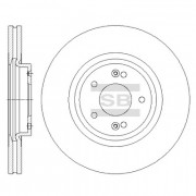 Тормозной диск HI-Q SD1075