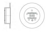 Тормозной диск HI-Q SD4016