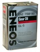 Полусинтетическое трансмиссионное масло Eneos Gear 75w90 GL-5