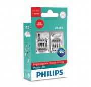 Комплект светодиодов Philips Vision (T20 / W21W) 12838REDX2