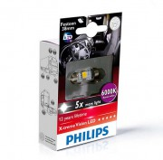Светодиодная лампа Philips X-tremeVision LED (C5W) 24944 1LED (6000K) 38mm