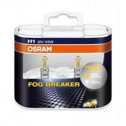 Комплект галогенных ламп Osram Fog Breaker 62150FBR-HCB Duobox +60% (H1)