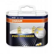 Комплект галогенных ламп Osram Fog Breaker 62151FBR-HCB Duobox +60% (H3)