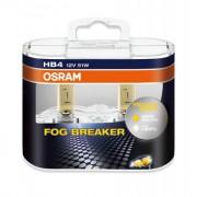 Комплект галогенных ламп Osram Fog Breaker 9006FBR-HCB Duobox +60% (HB4)