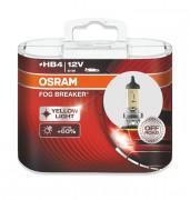 Комплект галогенних ламп Osram Fog Breaker 9006FBR-HCB Duobox +60% (HB4)