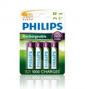 Аккумулятор Philips Rechargeables R6B4B260/10 (AA)