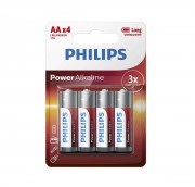 Батарейки Philips LR6 AA Power Alkaline (LR6P4B/10)