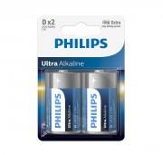 Батарейки Philips D Ultra Alkaline (LR20E2B/10)