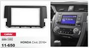 Переходная рамка Carav 11-650 для Honda Civic 2016+, 2 DIN