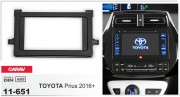 Переходная рамка Carav 11-651 для Toyota Prius 2016+, 2 DIN