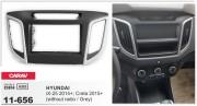 Переходная рамка Carav 11-656 для Hyundai ix25 2014+, Creta 2015+, 2 DIN