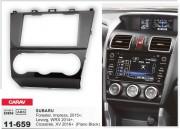 Переходная рамка Carav 11-659 для Subaru Crosstrek, XV, Impreza, Forester, WRX, Levorg, 2 DIN