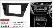 Переходная рамка Carav 11-661 для Volkswagen Touran 2015+, 2 DIN