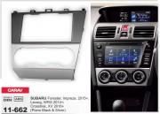Переходная рамка Carav 11-662 для Subaru Crosstrek, XV, Impreza, Forester, WRX, Levorg, 2 DIN