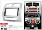 Переходная рамка Carav 11-666 для Toyota Urban Cruiser 2008-2014, IST 2007+ / Scion xD 2007-2012, 2 DIN