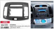 Переходная рамка Carav 11-680 для Hyundai Elantra (HD), Avante (HD) 2006-2010, 2 DIN