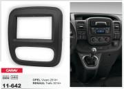 Переходная рамка Carav 11-642 для Renault Trafic 2014+ / Opel Vivaro 2014+, 2 DIN