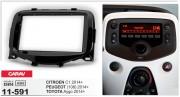 Переходная рамка Carav 11-591 для Citroen C1 / Toyota Aygo / Peugeot (108) 2014+, 2 DIN