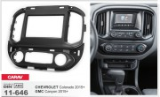 Переходная рамка Carav 11-646 для Chevrolet Colorado / GMC Canyon 2015+, 2 DIN