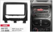Переходная рамка Carav 11-686 для Fiat Strada 2012+, 2 DIN