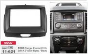 Переходная рамка Carav 11-621 для Ford Ranger, Everest 2015+, 2 DIN