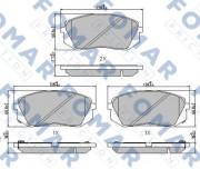 Тормозные колодки FOMAR FO 241981
