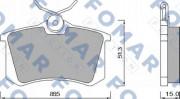 Тормозные колодки FOMAR FO 465381