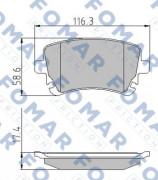 Тормозные колодки FOMAR FO 815281